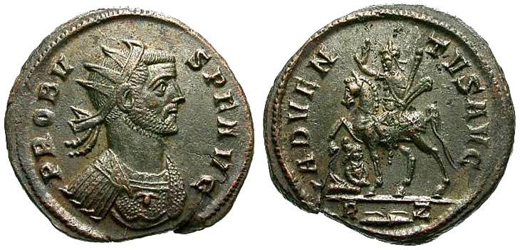 Aureliano de Probo. ADVENTVS AVG. Emperador a caballo. Roma R158.180602.AT