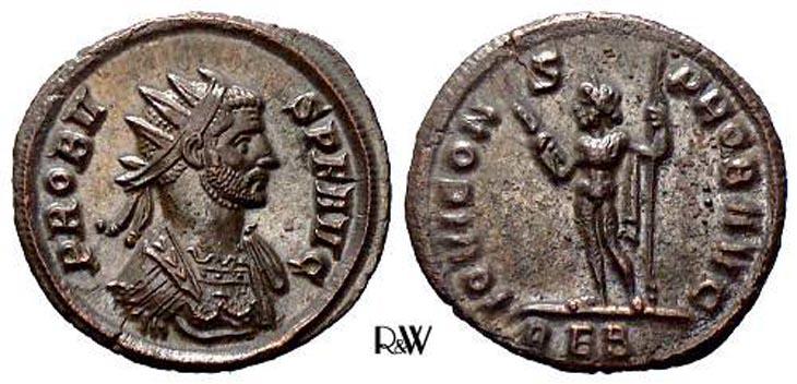 Aureliano de Probo. IOVI CONS PROB AVG. Jýpiter a izq. Roma R175.160706.RW